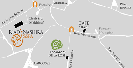 carte hammam de la rose marrakech